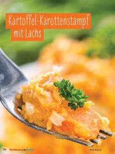 Rezept - Kartoffel-Karottenstampf mit Lachs - Simply Kochen mit und für Kinder - mit Nina Kämpf von Mamaaempf
