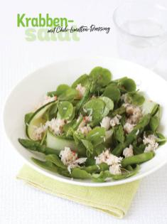 Rezept - Krabben-Salat mit Chili-Limetten-Dressing - Simply Kochen Special Spargel