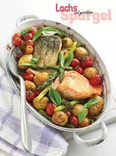 Rezept - Lachs mit geröstetem - Simply Kochen Special Spargel