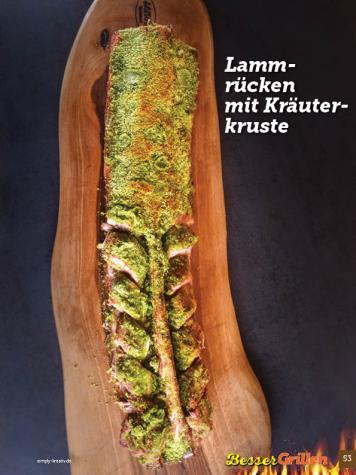 Rezept - Lammrücken mit Kräuterkruste - Simply Kochen Sonderheft Besser Grillen mit den Grillweltmeisten