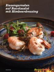 Rezept - Riesengarnelen auf Rucolasalat mit Himbeerdressing - Simply Kochen Sonderheft Besser Grillen mit den Grillweltmeisten