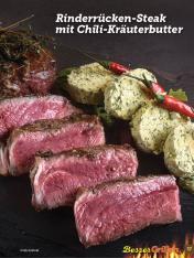 Rezept - Rinderrücken-Steak mit Chili-Kräuterbutter - Simply Kochen Sonderheft Besser Grillen mit den Grillweltmeisten