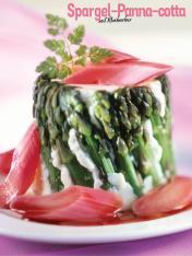 Rezept - Spargel-Panna-cotta mit Rhabarber - Simply Kochen Special Spargel