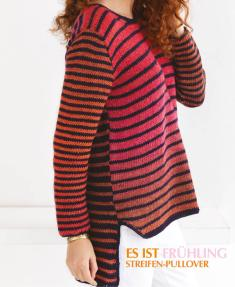 Strickanleitung - Es ist Frühling - Streifen-Pullover - Designer Knitting - 03/2019
