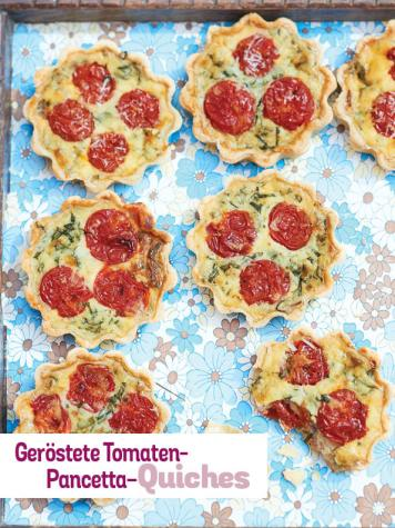 Rezept - Geröstete Tomaten-Pancetta-Quiches - Simply Kochen Picknick - 03/2019