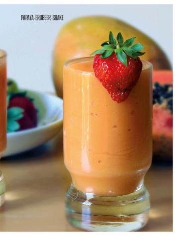 Rezept - Papaya-Erdbeer-Shake - Bewusst Low Carb – 05/2019