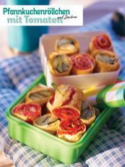 Rezept - Pfannkuchenröllchen mit Tomaten und Zucchini - Simply Kochen Picknick - 03/2019
