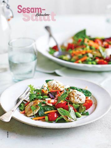 Rezept - Sesam-Hähnchen-Salat - Simply Kochen Sonderheft Salate to go