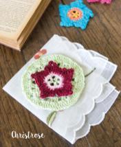 Häkelanleitung - Christrose - Mini Granny-Blumen häkeln Vol. 9