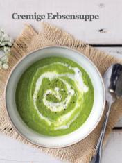 Rezept - Cremige Erbsensuppe - Healthy Vegan Sonderheft - Sommerspecial