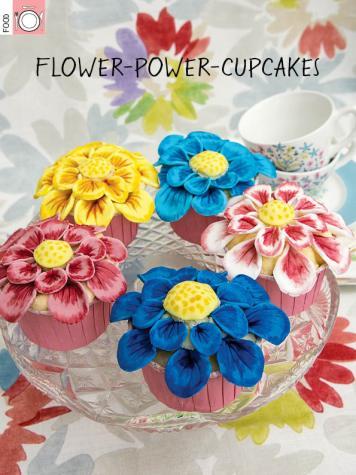 Rezept - Flower-Power-Cupcakes - Simply Kreativ Heft 03/2019