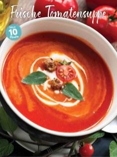 Rezept - Frische Tomatensuppe - Simply Kochen Sonderheft Sommerrezepte