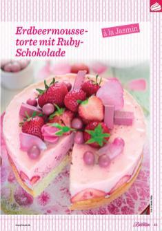 Backanleitung - Erdbeermoussetorte mit Ruby-Schokolade à la Jasmin - Das große Backen 05/2019