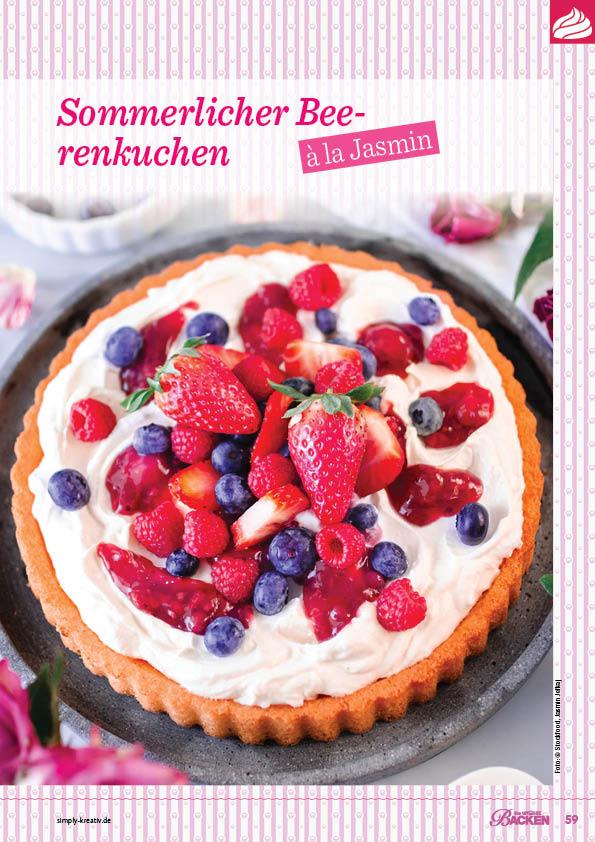 Backanleitung - Sommerlicher Beerenkuchen à la Jasmin - Das große Backen 05/2019