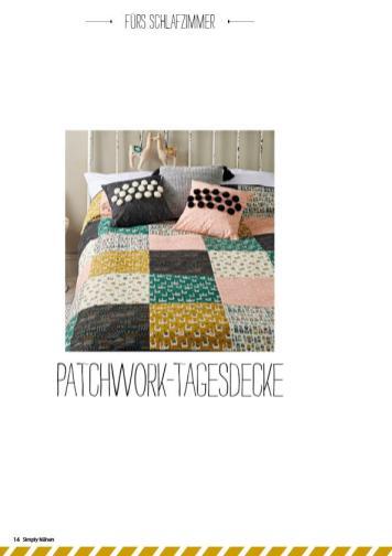 Nähanleitung - Patchwork-Tagesdecke - Simply Nähen - 05/2019
