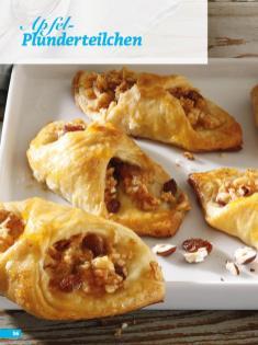 Rezept - Apfel-Plunderteilchen - Simply Backen Sonderheft Kuchen Äpfel + Pflaumen