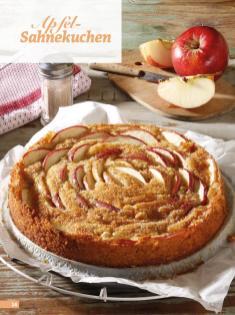 Rezept - Apfel-Sahnekuchen - Simply Backen Sonderheft Kuchen Äpfel + Pflaumen