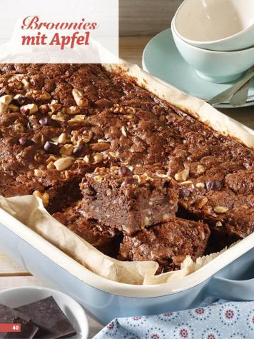 Rezept - Brownies mit Apfel - Simply Backen Sonderheft Kuchen Äpfel + Pflaumen