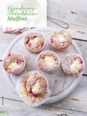 Rezept - Cranberry-Frischkäse-Muffins - Simply Backen - 04/2019
