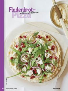 Rezept - Fladenbrot–Pizza mit Granatapfelkernen - Simply Kochen Orientalisch - 05/2019