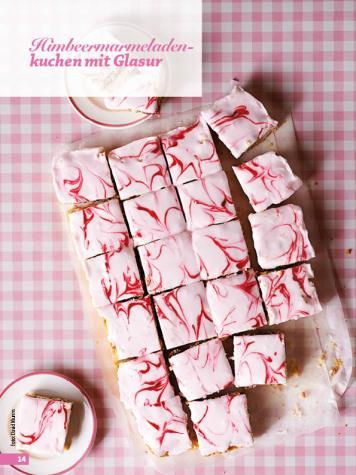 Rezept - Himbeermarmeladen-Kuchen mit Glasur - Simply Backen - 04/2019