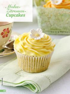 Rezept - Mohn-Zitronen-Cupcakes - Simply Backen - 04/2019