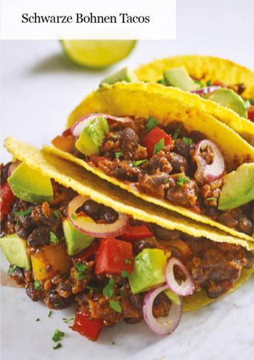 Rezept - Schwarze-Bohnen-Tacos - Healthy Vegan 05/2019
