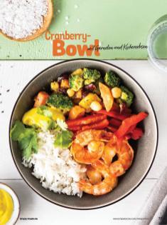 Rezept - Cranberry-Bowl mit Garnelen und Kichererbsen - Simply Kochen Sonderheft Bowls