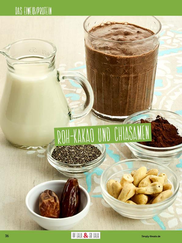 Rezept - Roh-Kakao und Chiasamen - Clean Food mit Andrea Sokol von Ohlala & Solala