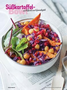 Rezept - Süßkartoffel-Bowl mit Rotkohl und Granatapfel - Simply Kochen Sonderheft Bowls