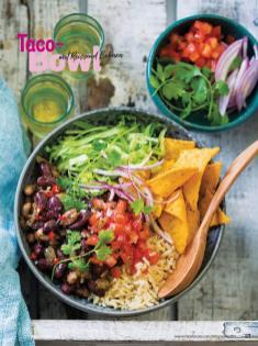 Rezept - Taco-Bowl mit Reis und Bohnen - Simply Kochen Sonderheft Bowls