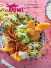 Rezept - Zoodle-Bowl mit Süßkartoffelsticks, Kräuterdip und Datteln - Simply Kochen Sonderheft Bowls