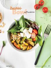 Rezept - Zucchini-Bowl mit Pinienkernen - Simply Kochen Sonderheft Bowls