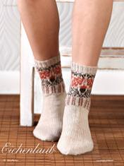 Strickanleitung - Eichenlaub - Simply Kreativ - Best of Socken Stricken - 01/2019