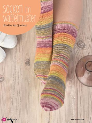 Strickanleitung - Socken im Waffelmuster - Best Of Crasy Sylvie - 02/2019