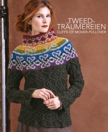 Strickanleitung - Tweed-Träumereien - Cliffs Of Moher Pullover - Designer Knitting - 05/2019
