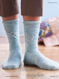 Strickanleitung - Weidenkätzchen - Simply Kreativ - Best of Socken Stricken - 01/2019