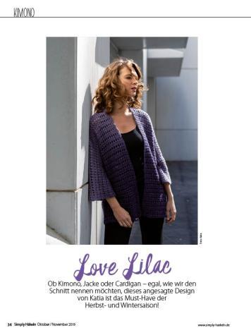 Häkelanleitung - Love Lilac - Simply Häkeln - 06/2019