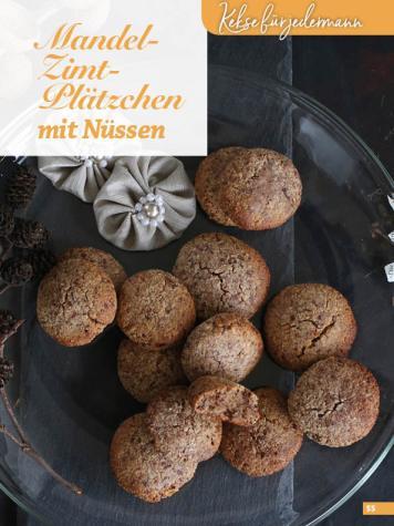 Rezept - Mandel-Zimt-Plätzchen mit Nüssen - Simply Kreativ Glutenfrei Weihnachtsbacken – 01/2019