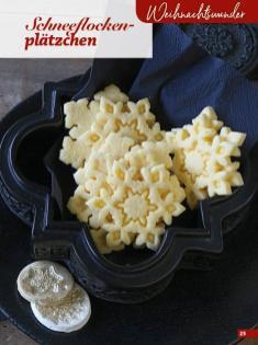 Rezept - Schneeflockenplätzchen - Simply Kreativ Glutenfrei Weihnachtsbacken – 01/2019