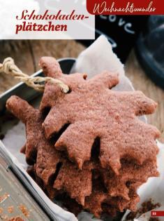 Rezept - Schokoladenplätzchen - Simply Kreativ Glutenfrei Weihnachtsbacken – 01/2019