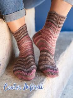 Strickanleitung - Cooler Auftritt - Simply Kreativ – Best of Simply Stricken Socken