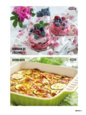 Rezept - Beerenquark mit Zitrusspritz & Zucchini-Gratin - Bewusst Low Carb Sonderheft: 4 Kilo in 30 Tagen - 01/2020