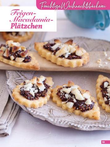 Rezept - Feigen-Macadamia-Plätzchen - Weihnachtsbäckerei 01/2019