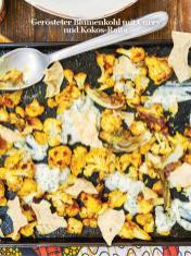 Rezept - Gerösteter Blumenkohl mit Curry und Kokos-Raita - Healthy Vegan Sonderheft - Vegan Jahrbuch