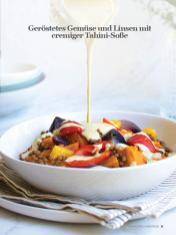 Rezept - Geröstetes Gemüse und Linsen mit cremiger Tahini-Soße - Healthy Vegan Sonderheft - Vegan Jahrbuch