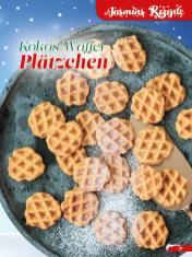 Rezept - Kokos-Waffel-Plätzchen - Simply Backen Sonderheft Weihnachtsbacken mit Janet & Jasmin 01/2019