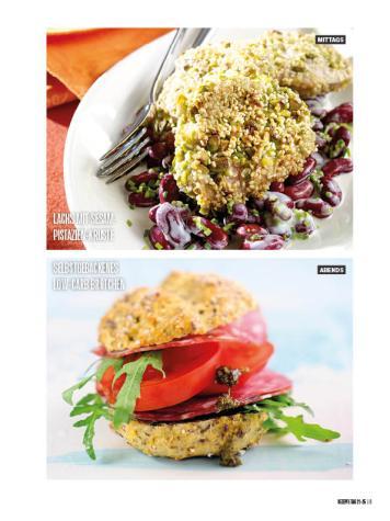 Rezept - Lachs mit Sesam-Pistazien-Kruste & Selbstgebackenes low-carb-Brötchen - Bewusst Low Carb Sonderheft: 4 Kilo in 30 Tagen - 01/2020