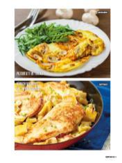 Rezept - Pilzomelett mit Rucola & Hähnchenschnitzel mit Paprika-Gemüses - Bewusst Low Carb Sonderheft: 4 Kilo in 30 Tagen - 01/2020