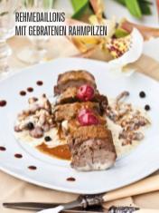 Rezept - Rehmedaillons mit gebratenen Rahmpilzen - Bewusst Low Carb Sonderheft – 03/2019